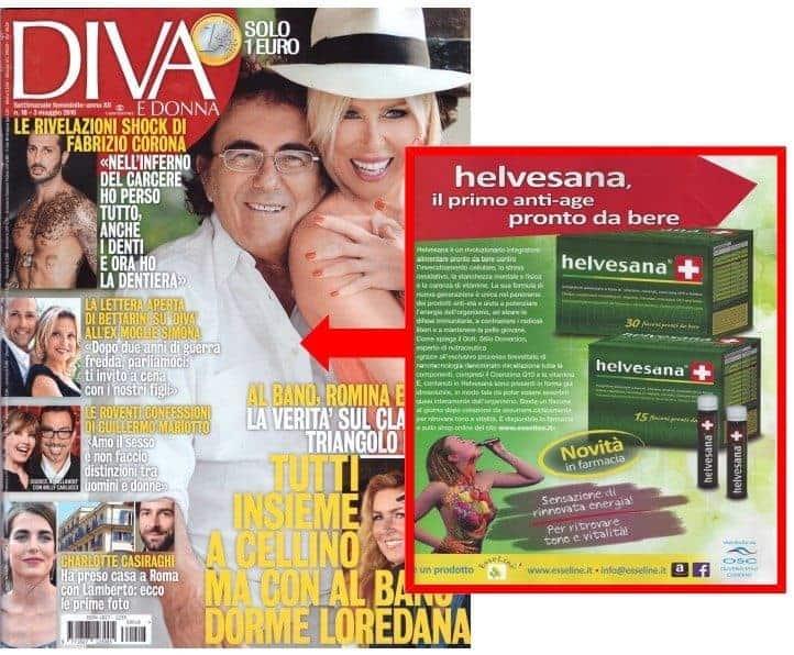 "27 Aprile 2016 sul settimanale ""Diva e Donna"" esseline helvesana"